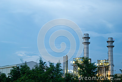 Amata nakhon electric power on night