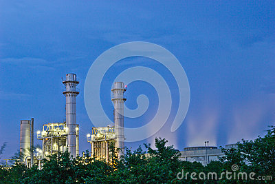 Amata nakhon electric power on night