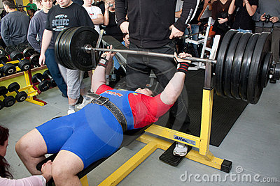 Amateur bench press championship Editorial Stock Photo