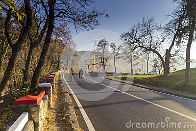 Amateur cyclists Editorial Image