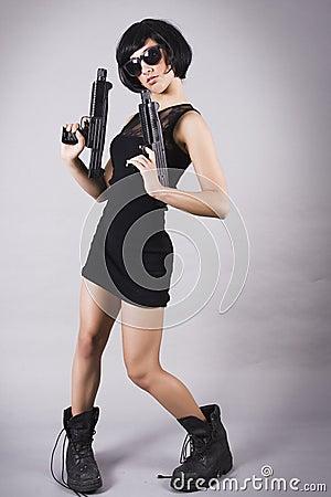Amateur female secret agent