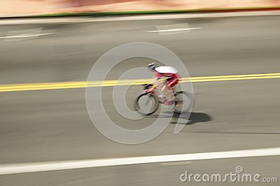 Amateur Man Bicyclist Editorial Photo