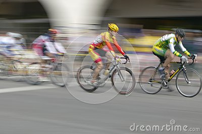 Amateur Men Bicyclists Editorial Image