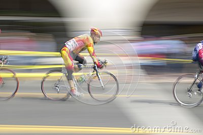 Amateur Men Bicyclists Editorial Stock Image