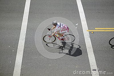 Amateur Men Bicyclists Editorial Photography