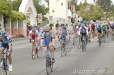 Amateur Men Bicyclists Editorial Stock Image