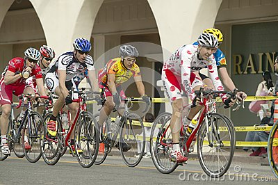 Amateur Men Bicyclists Editorial Stock Photo