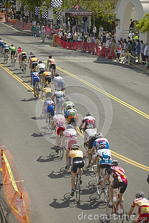 Amateur Men Bicyclists Editorial Photo