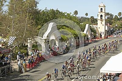 Amateur Men Bicyclists Editorial Photography