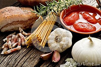 Amatriciana ingredients