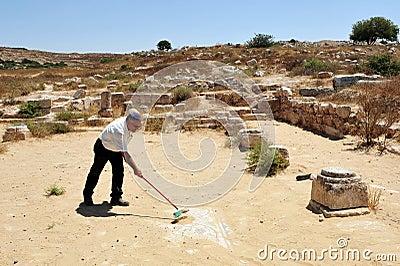Amatzia Caves - Israel  Editorial Stock Photo