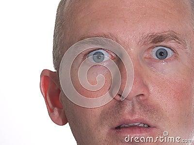 Amazed Blue Eyed Man