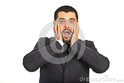 Amazed  Business Man Royalty Free Stock Image - Image: 28197816
