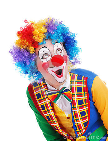 Free Amazed Clown Royalty Free Stock Photography - 23406597