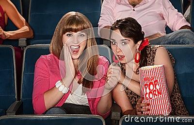 Amazed Ladies In Theater