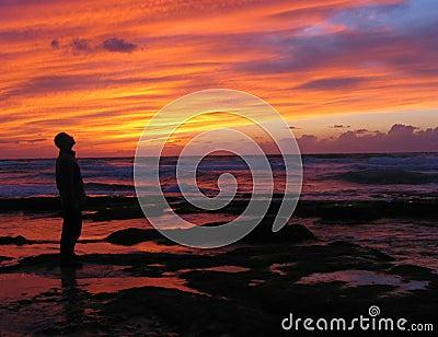 Amazed by sunset