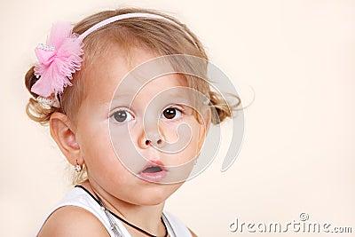 Amazed toddler girl