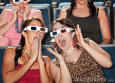 Amazed Women Watch 3d Movie