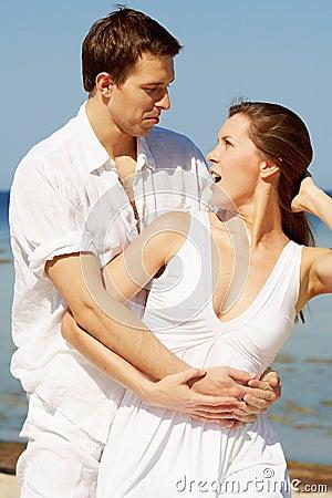 Amazed young couple