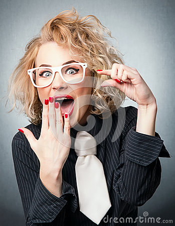Free Amazement Woman Have A Idea Stock Photography - 31237842