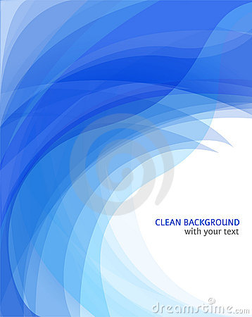 Amazing abstract blue wave background