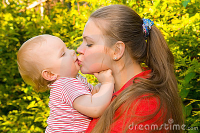 Amazing baby and mother