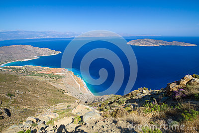 Amazing Bay view with blue lagoon on Crete