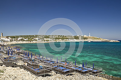 Amazing beach at Leuca,landscape,panorama