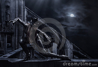 Amazing catwoman Editorial Photography