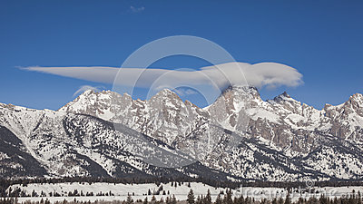 Amazing clouds above the Tetons