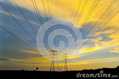 Amazing color cloud via sunset