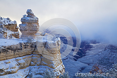 Snow Storm at Grand Canyon