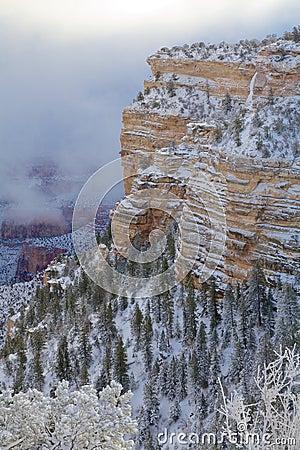 Wintery Grand Canyon Scenic