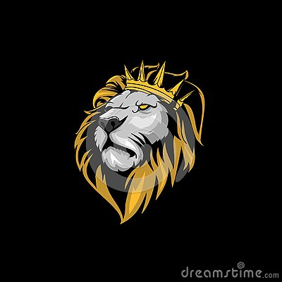 Amazing Cool And Calm Lion King Head With Crown Vector Cartoondealer Com 133571568