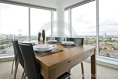 Amazing dining area with great city views