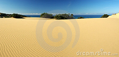 Amazing dunes at Piscinas Beach