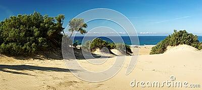 Amazing dunes at Piscinas Beach