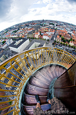 Free Amazing Effect - Round Tower Stairs Make One Feel Sick Royalty Free Stock Photo - 27748535