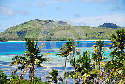 Amazing Fiji island and clear sea