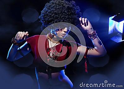 Amazing girl with afro