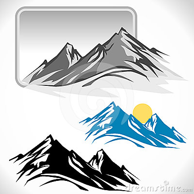 Free Amazing Glaciers On Mountain Peaks Stock Photography - 24436612