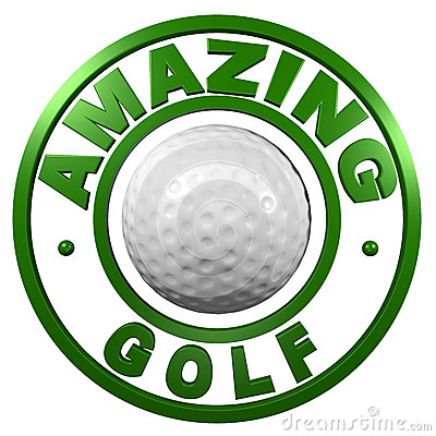 Amazing Golf circular design