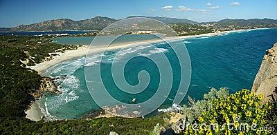 Amazing landscape at Villasimius Beach