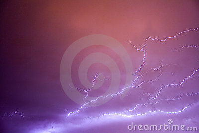 Amazing lightning bolts