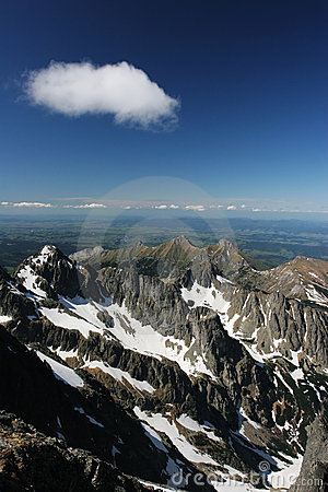 Amazing mountain view (High Tatra, Slovakia)