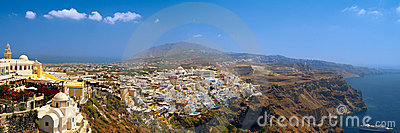 Amazing panoramic view of Thira
