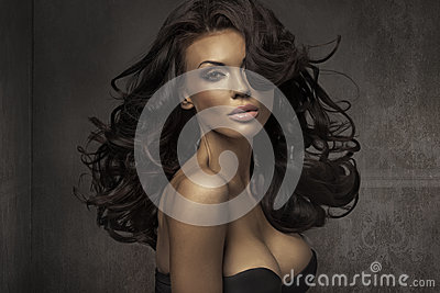 Amazing portrait of sensual woman