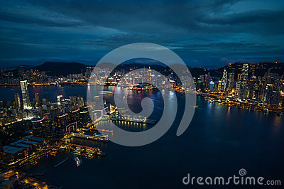 Amazing skyline of Hong Kong Editorial Image