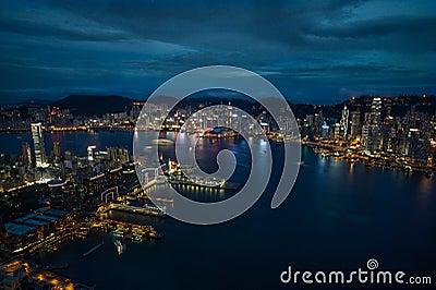Amazing skyline of Hong Kong Editorial Image