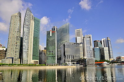 Amazing skyscrapers, singapore skyline Editorial Image
